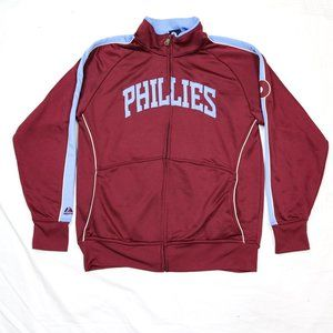 Phillies Majestic Jacket Cooperstown Maroon Small